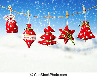 Hand made christmas decoration - Hand made cloth decoration...