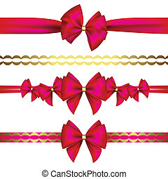 Set of gift bows with ribbon?