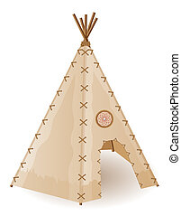 wigwam indians vector illustration - wigwam american indians...