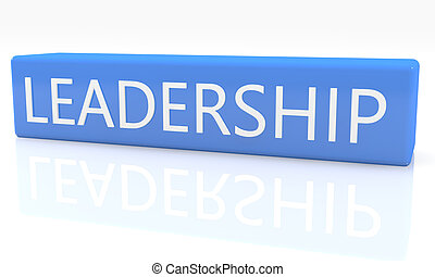 Leadership - 3d render blue box with text Leadership on it...