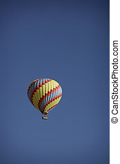 ballon - colorfull hot air ballon with blue sky