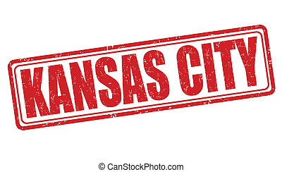 Kansas City stamp - Kansas City grunge rubber stamp on white...