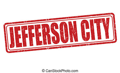 Jefferson City stamp - Jefferson City grunge rubber stamp on...