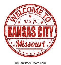 Welcome to Kansas City stamp - Welcome to Kansas City grunge...