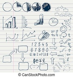 doodle elements of business infographic