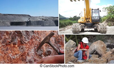 Mining Process and Activity Collage - Collage of different...