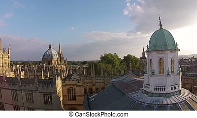 oxford city , aerial view, uk