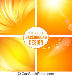 Bright Background Set - 4 Bright Background Set. Colorful...