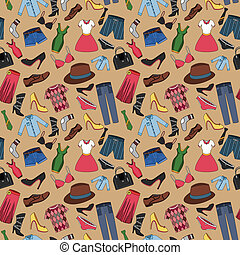 Clothes seamless pattern