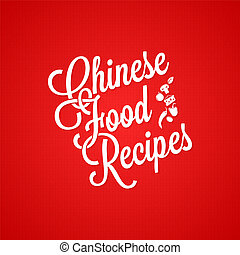 chinese food vintage lettering background