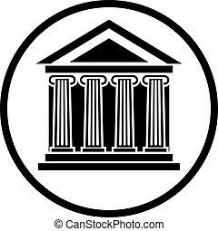 Bank vector icon.