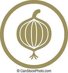 Onion vector icon.