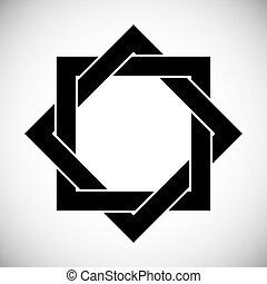 Eight point star. - Eight point star vector symbol.