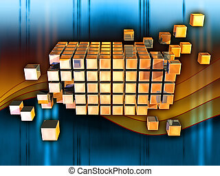 Information cubes - Cubes forming a larger structure in...