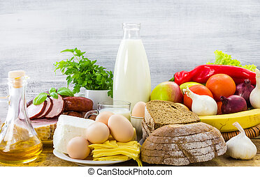 composition food products table