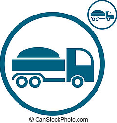 Truck icon. - Truck vector simplistic icon.