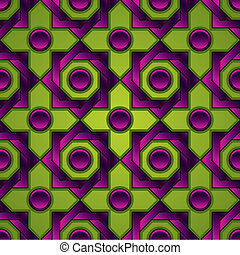 Vintage tiles seamless pattern, vector.