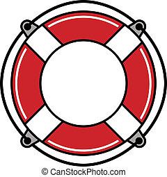 Life buoy. - Life buoy simplistic vector icon.