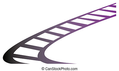 Train track isolate in a white background