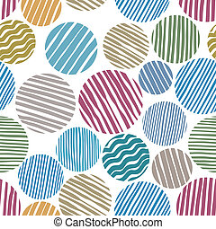 Lined circles seamless pattern - Lined circles seamless...