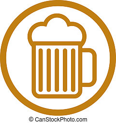 Beer glass icon. - Beer glass vector icon.