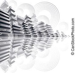 Futuristic city panorama.