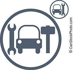 Car repair vector icon.