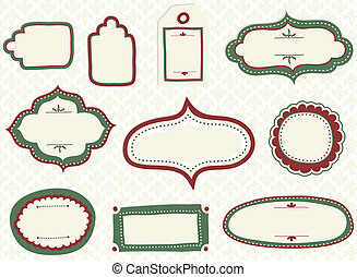 Holiday Doodle Labels - Set of vector doodle labels and tags...
