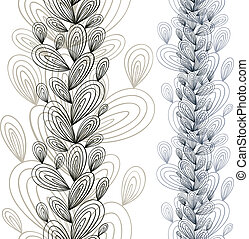 Exotic floral seamless pattern.
