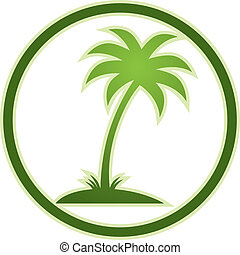 Palm tree icon - Palm tree icon, vector