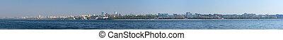 panoramic samara - Wiew of Samara city on the Volga river