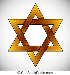 Star of David. - Star of David, vector.