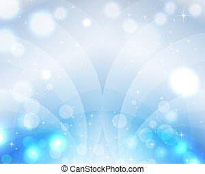 Heaven Blue Sky Wave Magic Beautiful Christmas background...
