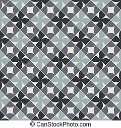 Old style tiles seamless background, vector pattern design...