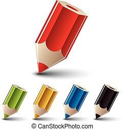Pencil vector icon set.