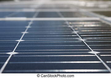 Solar panels - a cloes up look on a solar panle part