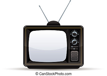 Retro TV set - Retro TV set, vector illustration