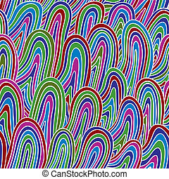 Funky style colorful seamless pattern.