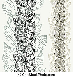 Floral design background, contain seamless vertical elements for