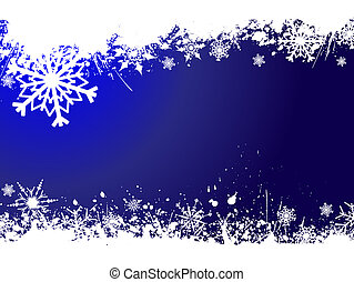 Grunge snowflakes - Grunge snowflake background