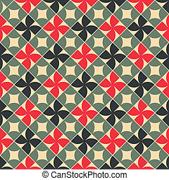 Old style tiles seamless background.