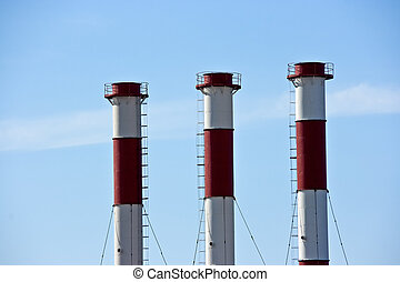 chimneys - The chimneys without of any smoke and dirty