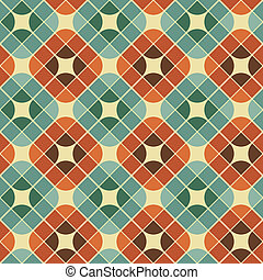 Abstract colorful tiles seamless pattern.
