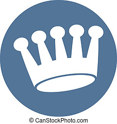 Crown icon, vector