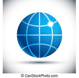 Earth vector icon.