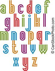 Double line retro style trendy font.