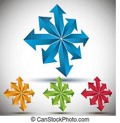 Arrows 3d icon.