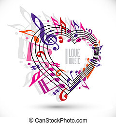 I love music template in red pink and violet colors - I love...