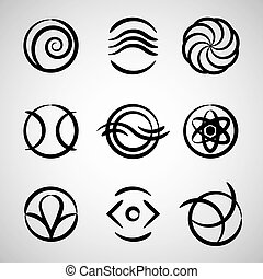 Abstract icons collection 3. - Abstract icons collection,...