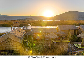 Uros Floating Islands Sunset